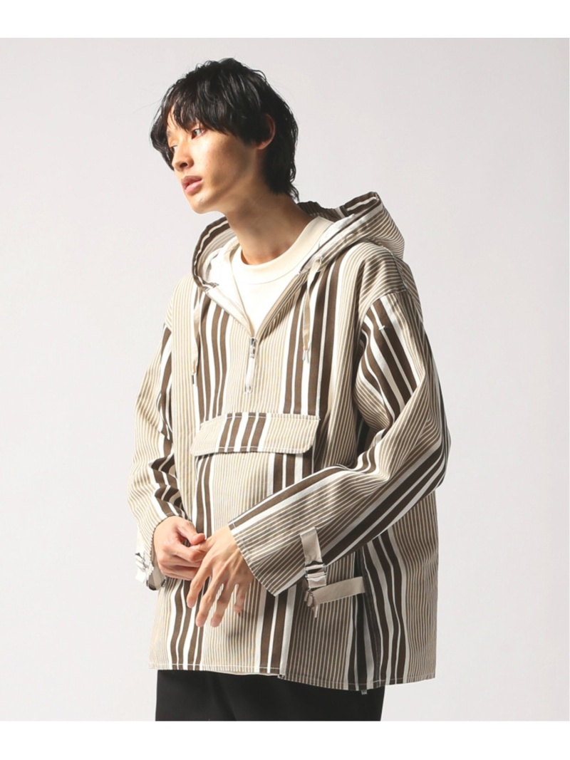 【SALE/40%OFF】JOURNAL STANDARD relume textile design by NOMA t.d. anorak ジャーナル スタンダード レリューム カットソー パーカー ブラウン【RBA_E】【送料無料】
