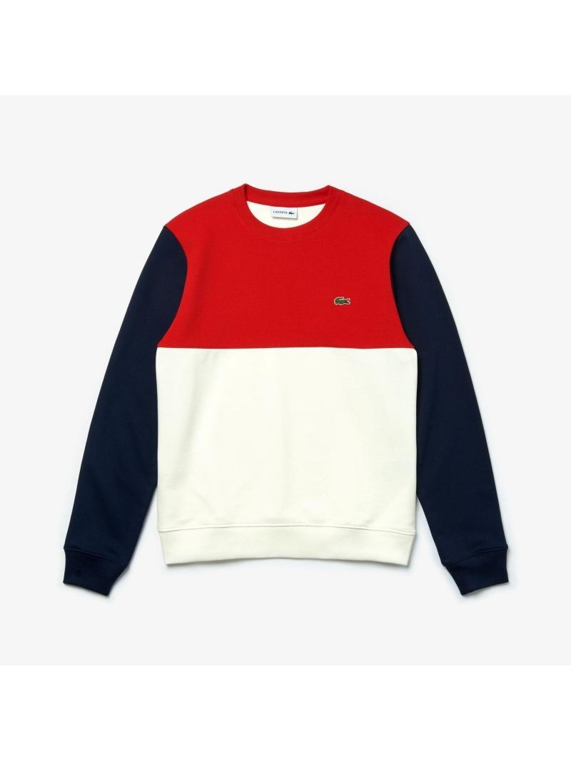 【SALE/30%OFF】LACOSTE カラーブロッククルーネックスウェットシャツ ラコステ カットソー スウェット【RBA_E】【送料無料】