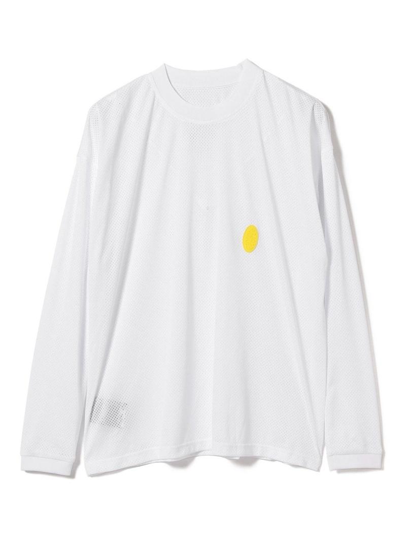 【SALE/50%OFF】BEAMS T P.A.M / MESH Long Sleeve Tee ビームスT カットソー Tシャツ ホワイト【RBA_E】【送料無料】