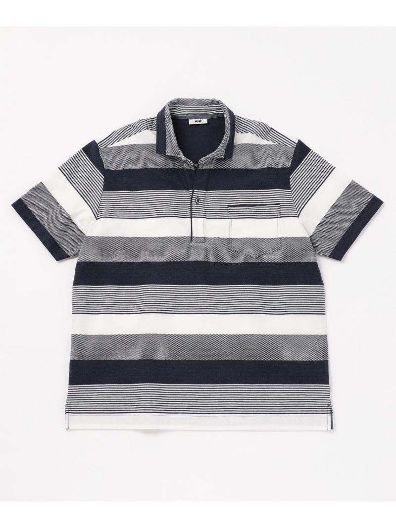 JOSEPH ABBOUD クレイジーリンクスボーダー ポロシャツ ジョセフアブード カットソー【送料無料】