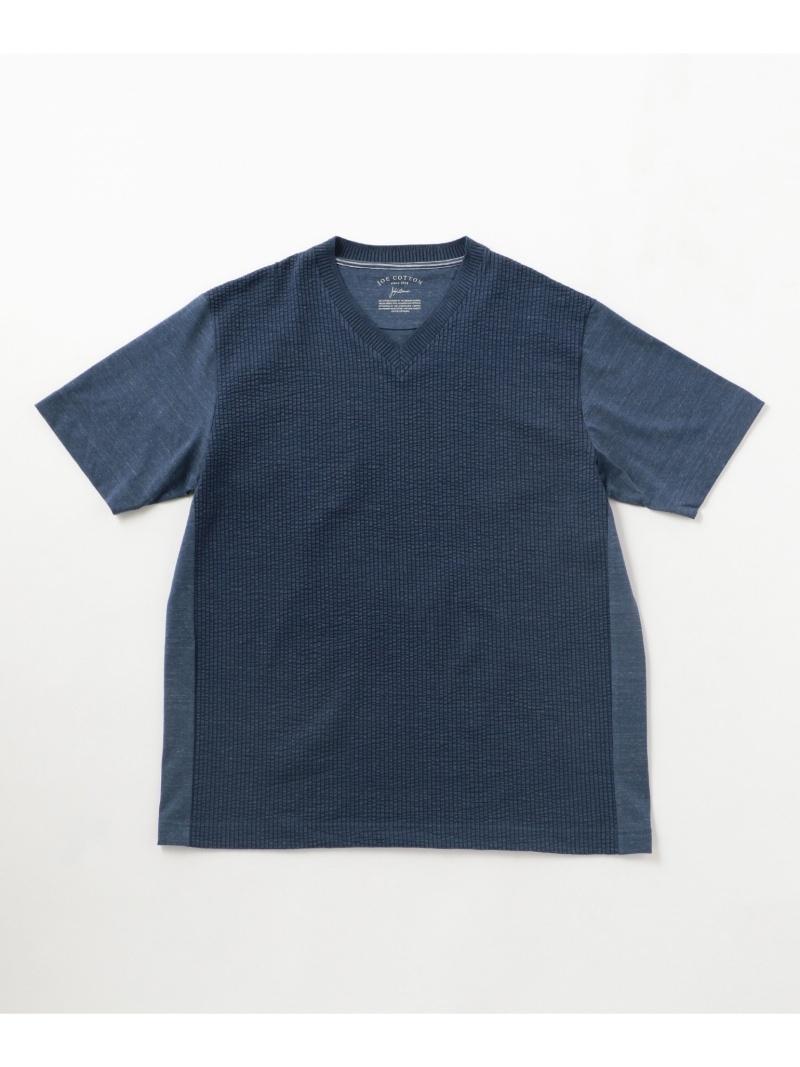 JOSEPH ABBOUD JOEコットンサッカーコンビ Tシャツ ジョセフアブード カットソー【送料無料】