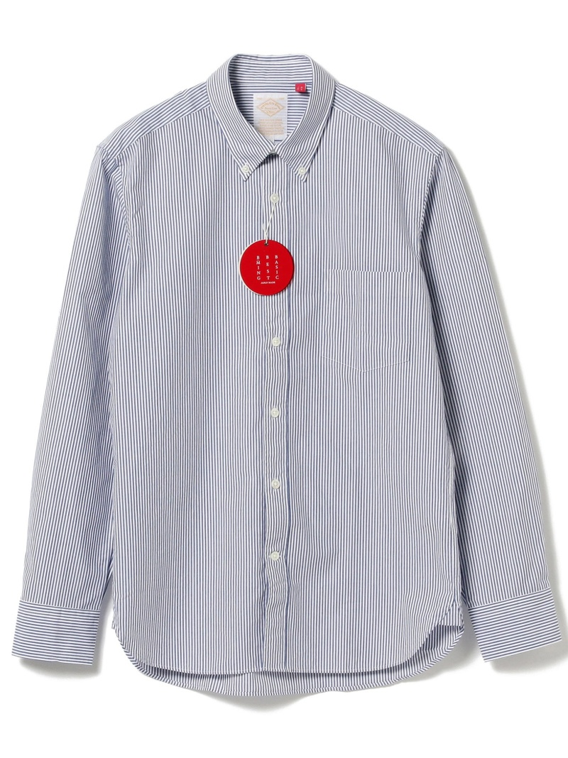 B:MING by BEAMS B:MING by BEAMS / BBB ボタンダウンシャツ NEW BEAMS ビームス ビーミング ライフストア バイ ビームス シャツ/ブラウス 長袖シャツ グリーン ホワイト【送料無料】
