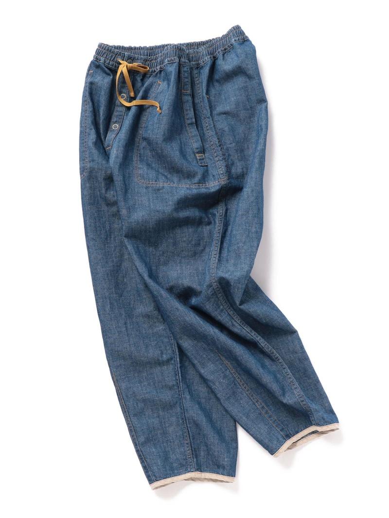 ADITIONAL コットンリネンデニムリバーシブルパンツ メンズ ビギ パンツ/ジーンズ フルレングス ブルー【送料無料】