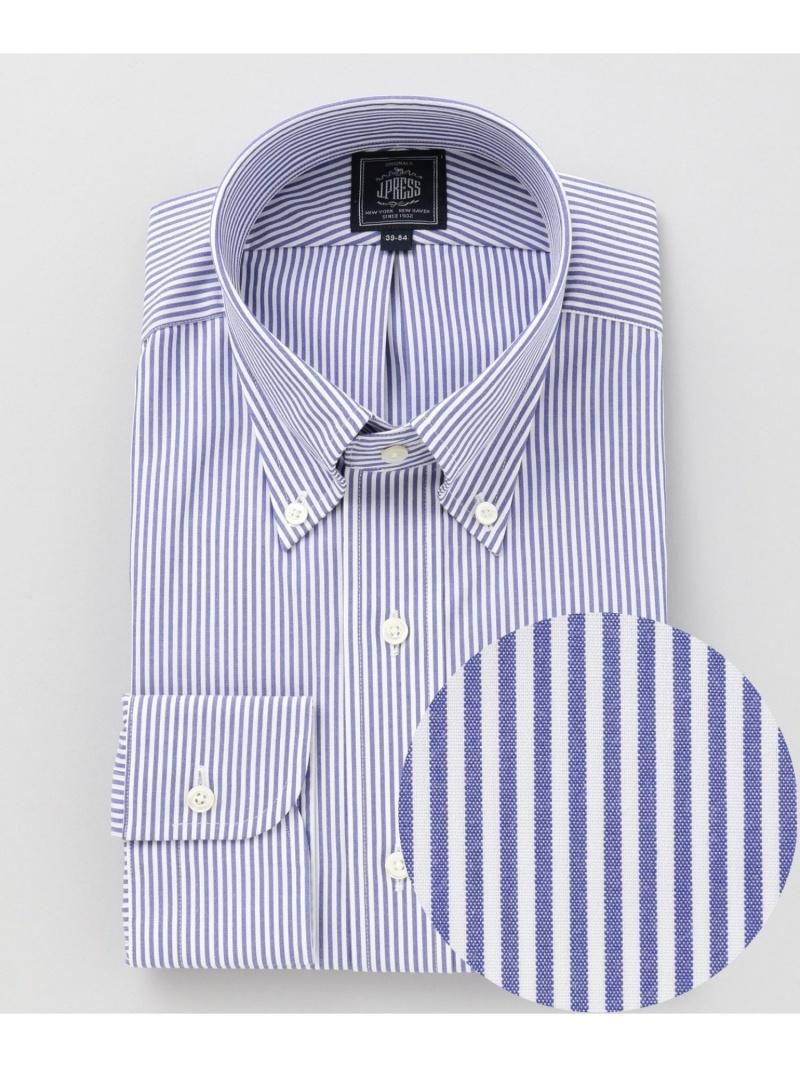 J.PRESS 【形態安定】PREMIUMPLEATS/ロンドンストライプシャツ ジェイプレス シャツ/ブラウス ワイシャツ ネイビー レッド ブルー【送料無料】