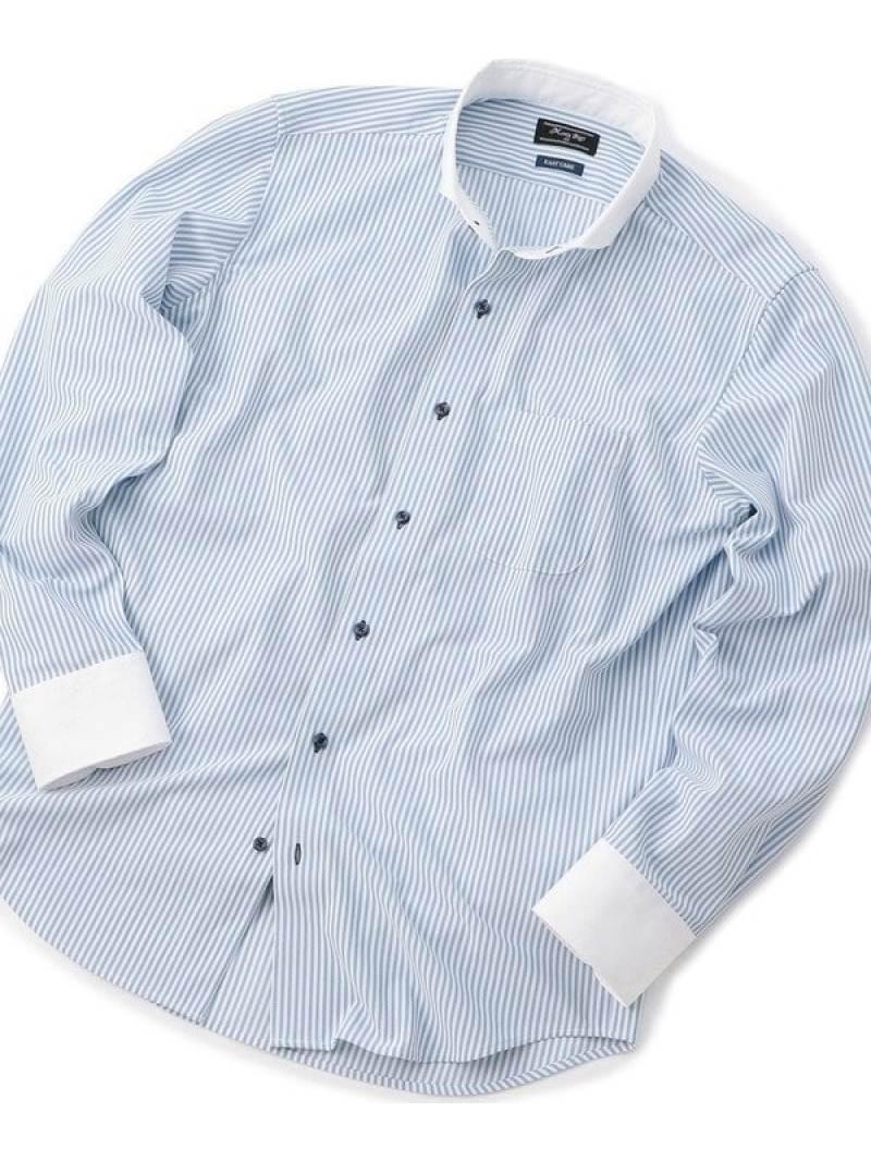 MEN'S BIGI トリコットジャージーシャツ〈イージーケア〉 メンズ ビギ シャツ/ブラウス 長袖シャツ ホワイト【送料無料】