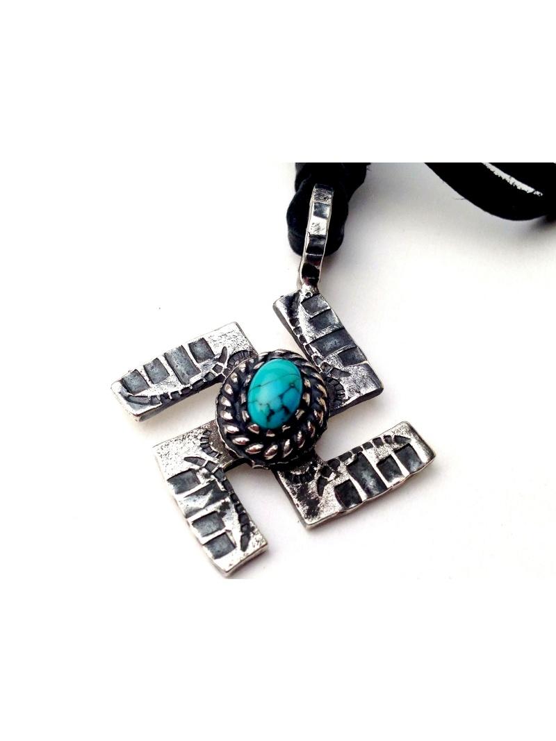 VIVIFY *turquoise纳粹党徽Necklace/大楼下雨