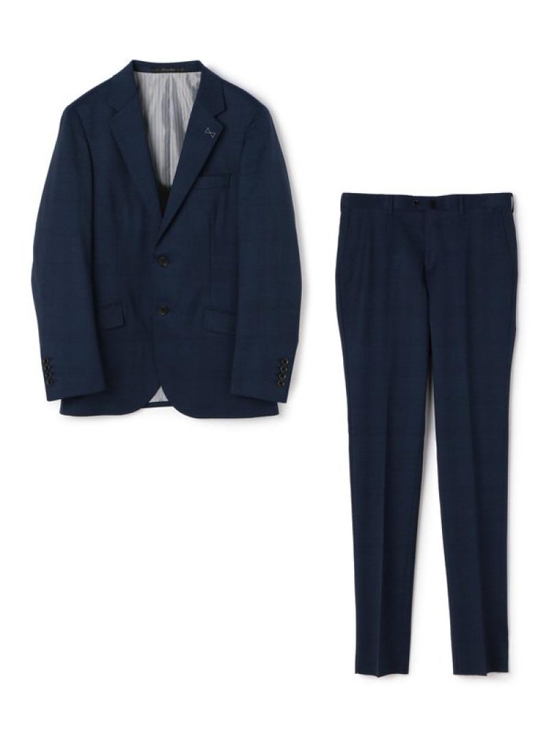 【SALE/50%OFF】MEN'S BIGI シャドーチェック柄スーツ メンズ ビギ ビジネス/フォーマル スーツ ネイビー ブラック【RBA_E】【送料無料】