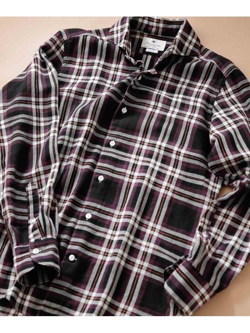 【SALE/40%OFF】giannetto ビッグチェックBDシャツ ナノユニバース シャツ/ブラウス シャツ/ブラウスその他 パープル【RBA_E】【送料無料】