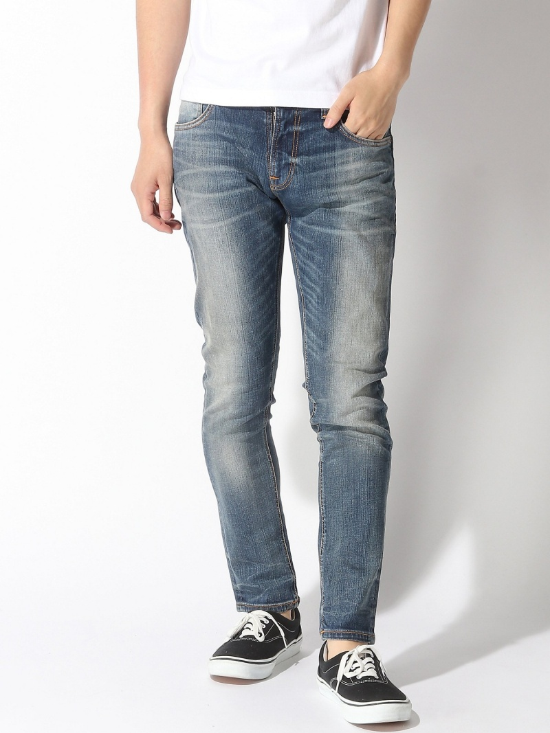 【SALE/50%OFF】nudie jeans nudie jeans/(M)Tight Terry ヌーディージーンズ / フランクリンアンドマーシャル パンツ/ジーンズ フルレングス ブルー【RBA_E】【送料無料】