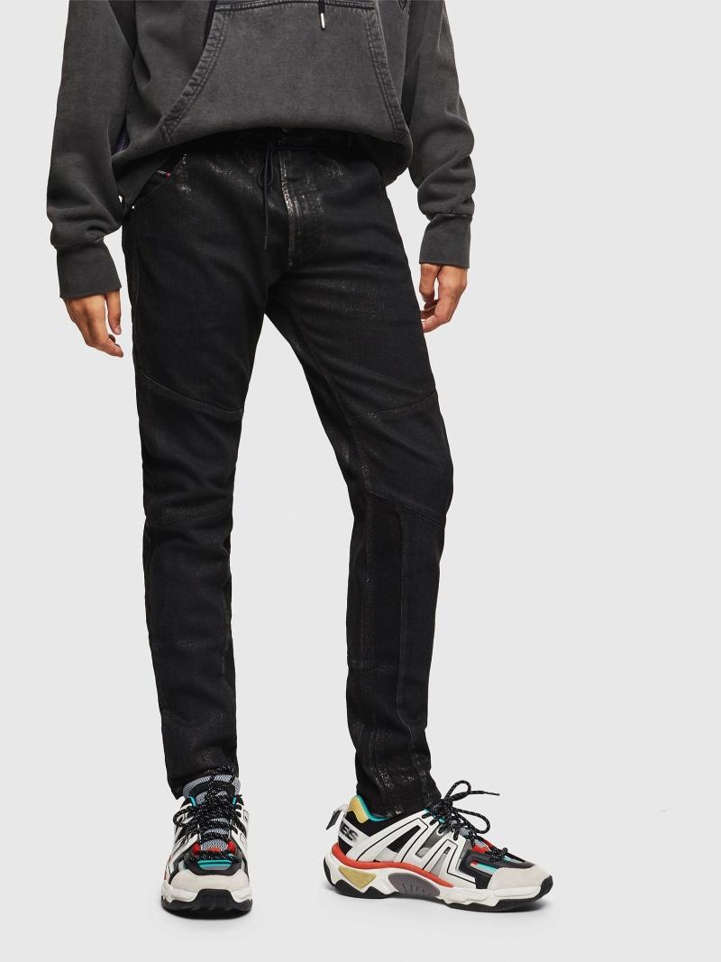 DIESEL D-Luhic JoggJeans 0092W ディーゼル パンツ/ジーンズ フルレングス ブラック【送料無料】