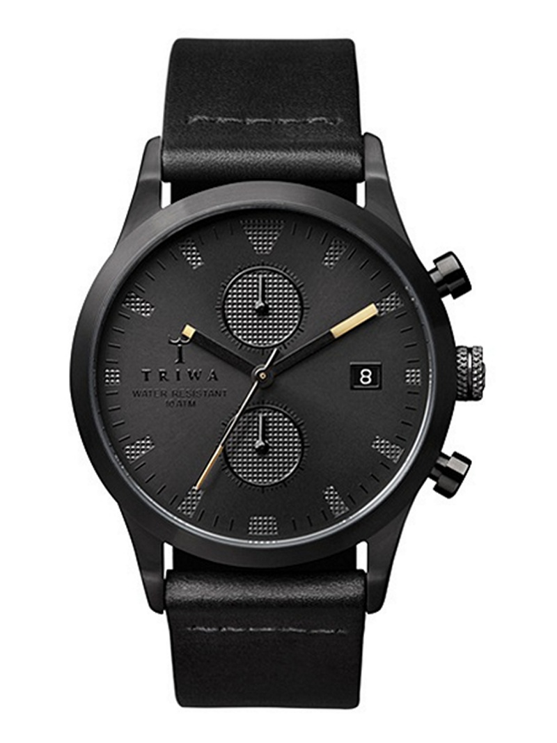 TRIWA (U)SORT of BLACK トリワ ファッショングッズ 腕時計 ブラック【送料無料】