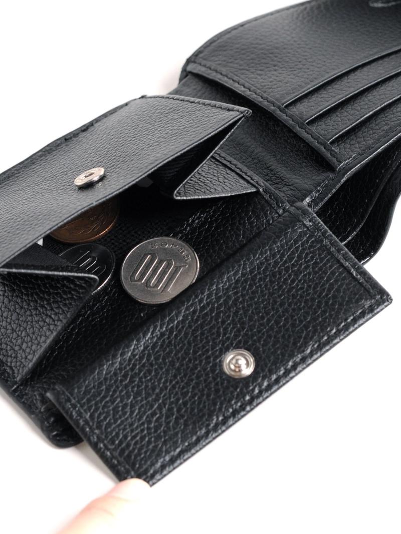 sankyoshokai 折り財布メンズ二つ折りカイマンレザー鰐革 サンキョウショウカイ 財布 小物 財布 送料無料lFTJK1c