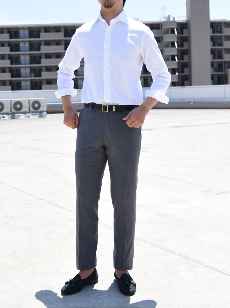 SHIPS SD:イージーアイロンオックスフォードソリッドワイドカラーシャツ シップス シャツ/ブラウス 長袖シャツ ホワイト【送料無料】
