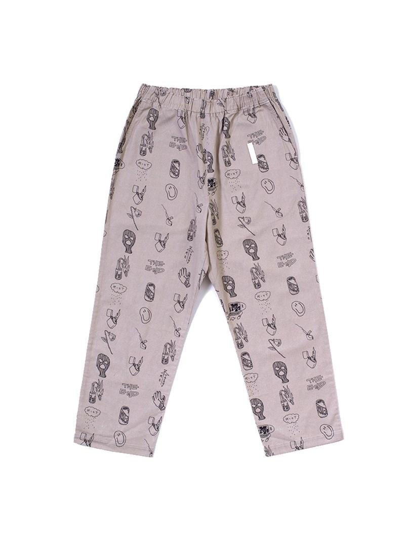 FULL-BK FULL-BK/(M)ICON TATOO PANTS バーチカルガレージ パンツ/ジーンズ フルレングス ベージュ【送料無料】