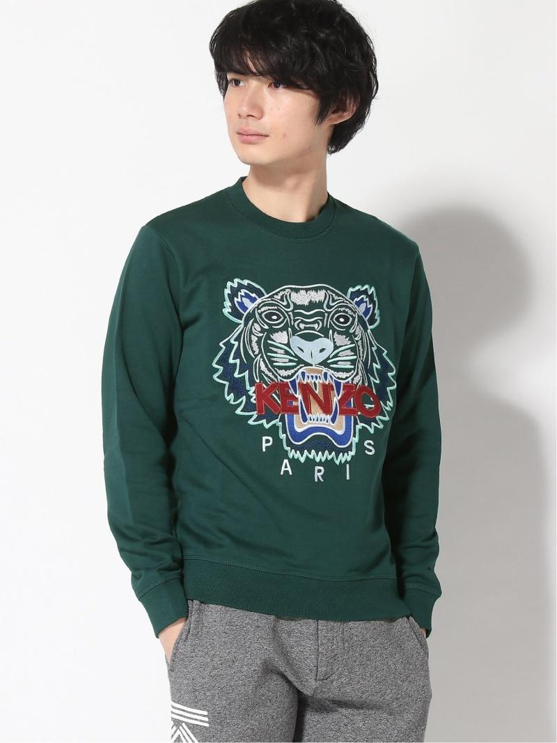 KENZO (M)FW18 Classic Tiger Sweatshirt ケンゾー カットソー スウェット グリーン グレー レッド【送料無料】