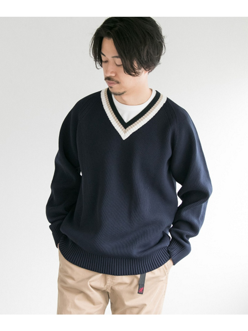 Vincent et Mireille V-NECK LINE SWEATER アーバンリサーチ ニット【送料無料】