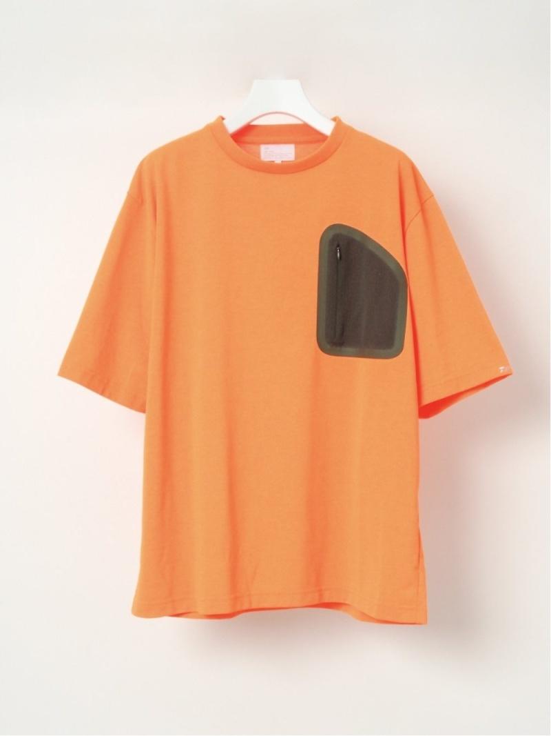 D-VEC メッシュポケットティー シーナウトウキョウ カットソー Tシャツ オレンジ カーキ ホワイト【先行予約】*【送料無料】