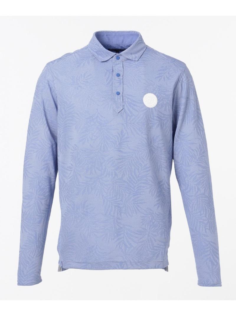 23区GOLF 【MEN】【UV/吸汗速乾】リーフリンクスシャツ ニジュウサンクゴルフ カットソー Tシャツ ブルー ネイビー【送料無料】