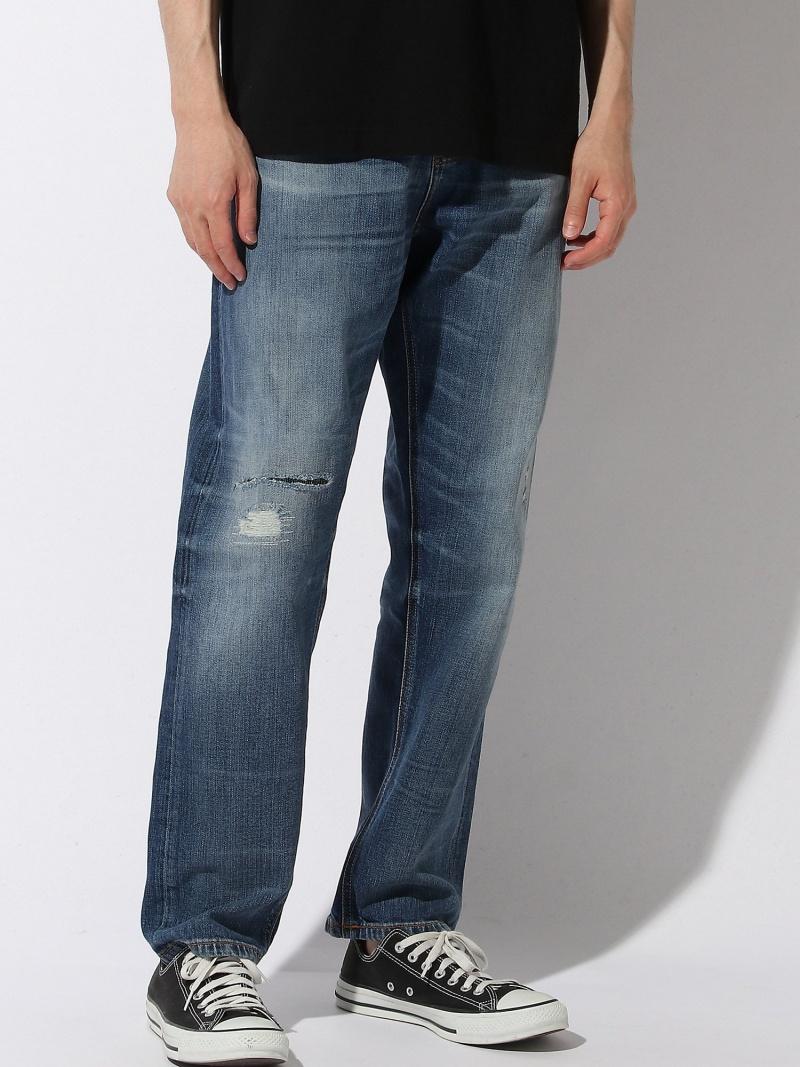 nudie jeans (M)Steady Eddie II ヌーディージーンズ / フランクリンアンドマーシャル パンツ/ジーンズ フルレングス ブルー【送料無料】