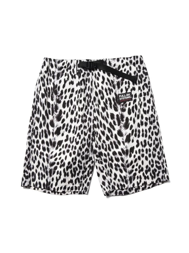 FULL-BK FULL-BK/(M)Leopard Shorts バーチカルガレージ パンツ/ジーンズ ショートパンツ ホワイト イエロー【送料無料】