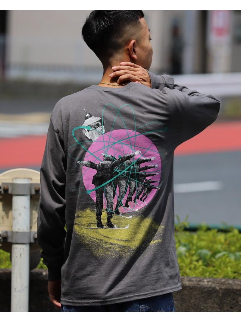 BEAMS T F-LAGSTUF-F / fly ロングスリーブ Tシャツ ビームスT カットソー Tシャツ グレー【送料無料】