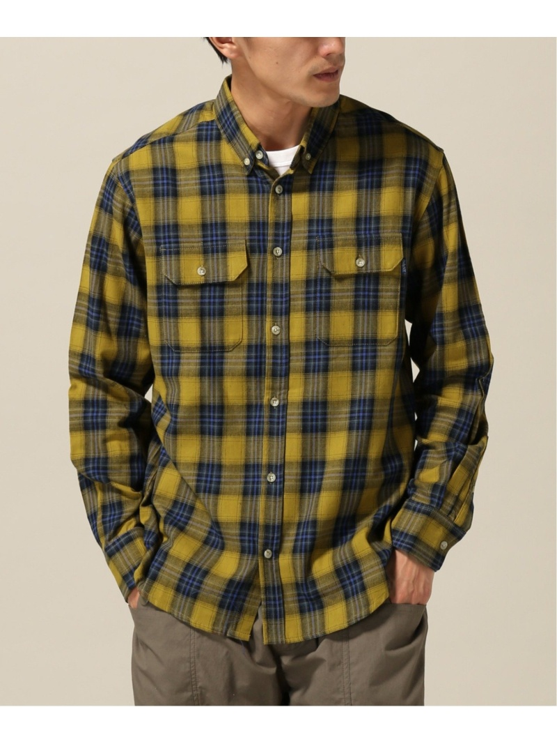 WISM ONLY NY/LODGE FLANNEL SHIRT ウィズム シャツ/ブラウス 長袖シャツ イエロー【送料無料】