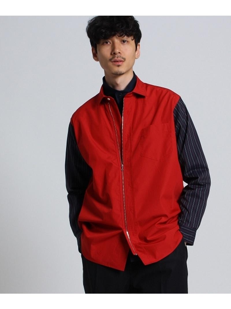 TAKEO KIKUCHI ブロード×ツイルストライプシャツ タケオキクチ シャツ/ブラウス【送料無料】