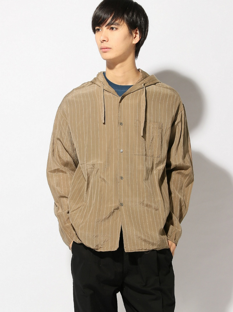 【SALE/30%OFF】Undecorated Man Undecorated Man/(M)Hood Shirt アクトン シャツ/ブラウス【RBA_S】【RBA_E】【送料無料】