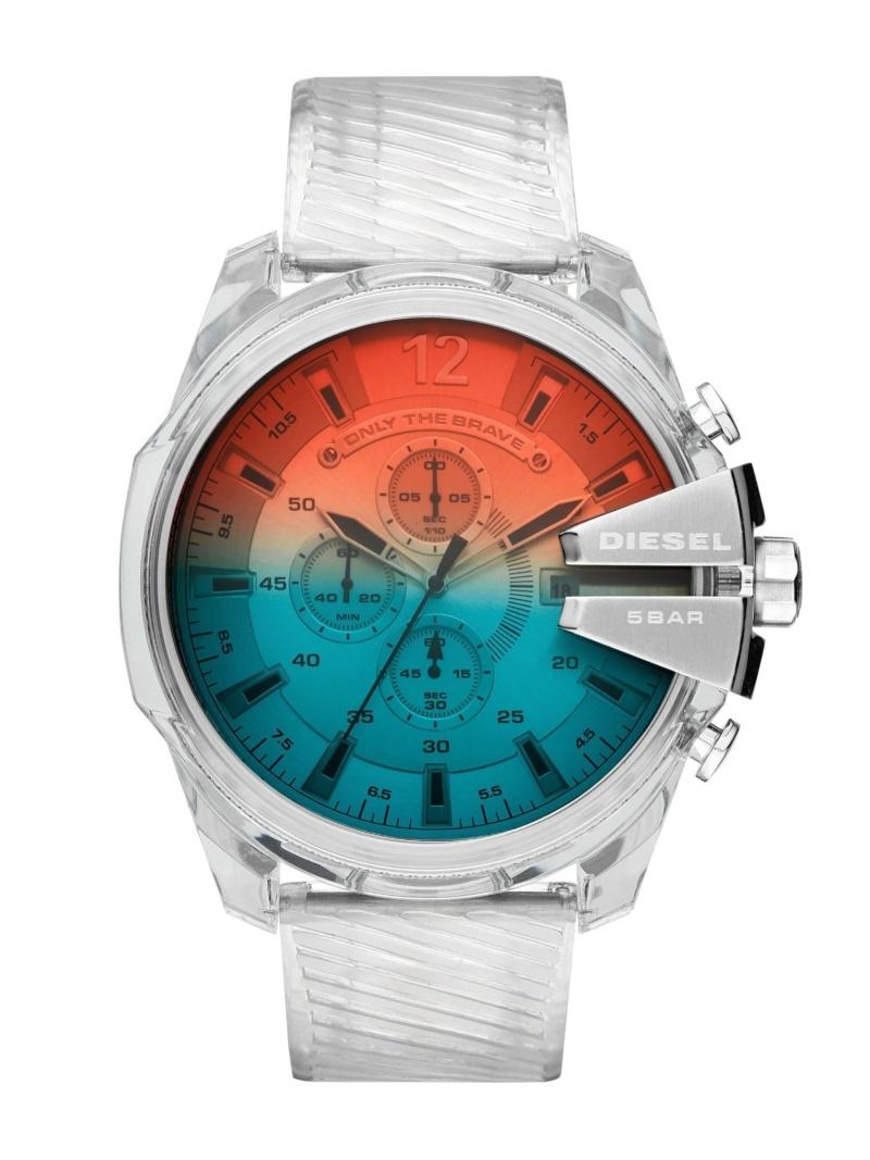 DIESEL DIESEL/(M)MEGA CHIEF_DZ4515 ウォッチステーションインターナショナル ファッショングッズ 腕時計 シルバー【送料無料】