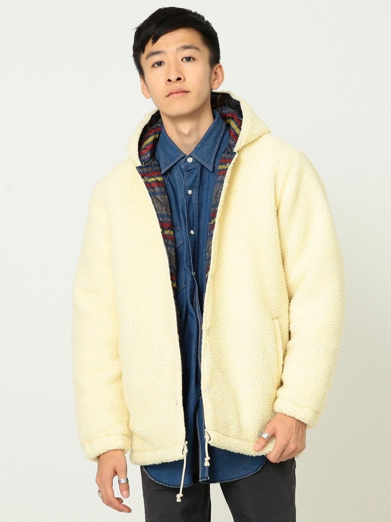 【SALE/30%OFF】BEAMS MEN Lee × BEAMS / 別注 Boa Hood Jacket ビームス メン コート/ジャケット【RBA_S】【RBA_E】【送料無料】