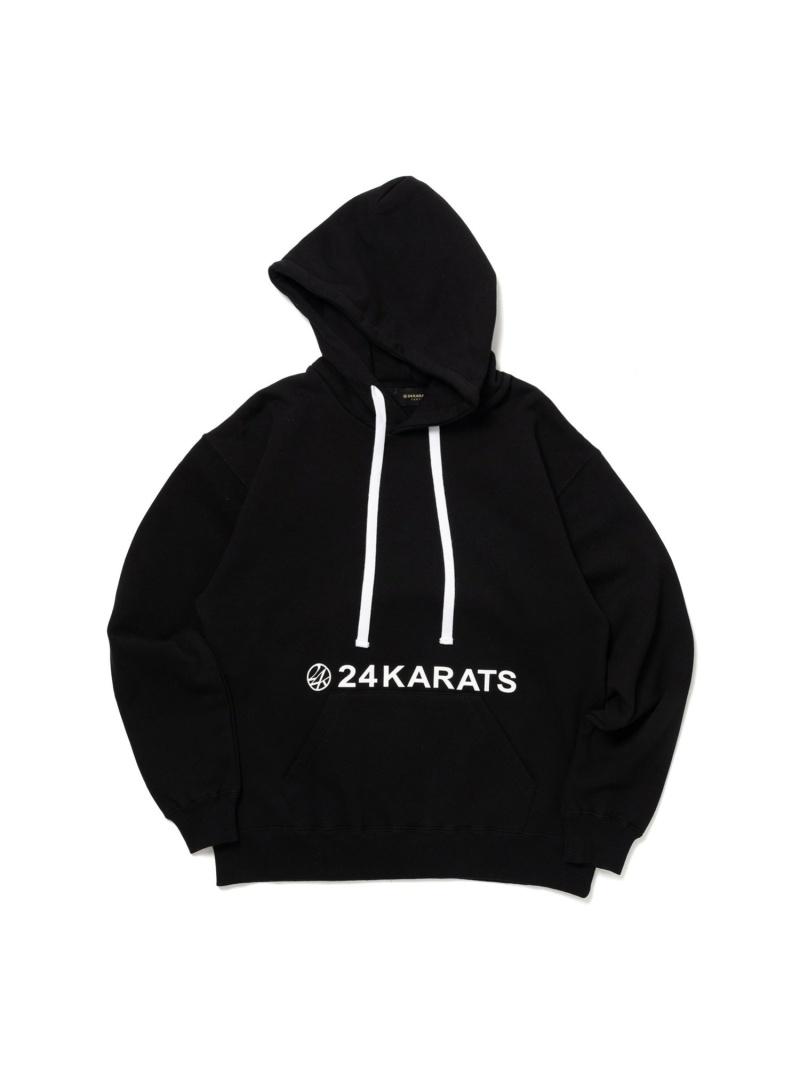 24karats 24karats/(M)Mid Night Basic Hoodie バーチカルガレージ カットソー パーカー ブラック グリーン ピンク オレンジ【送料無料】
