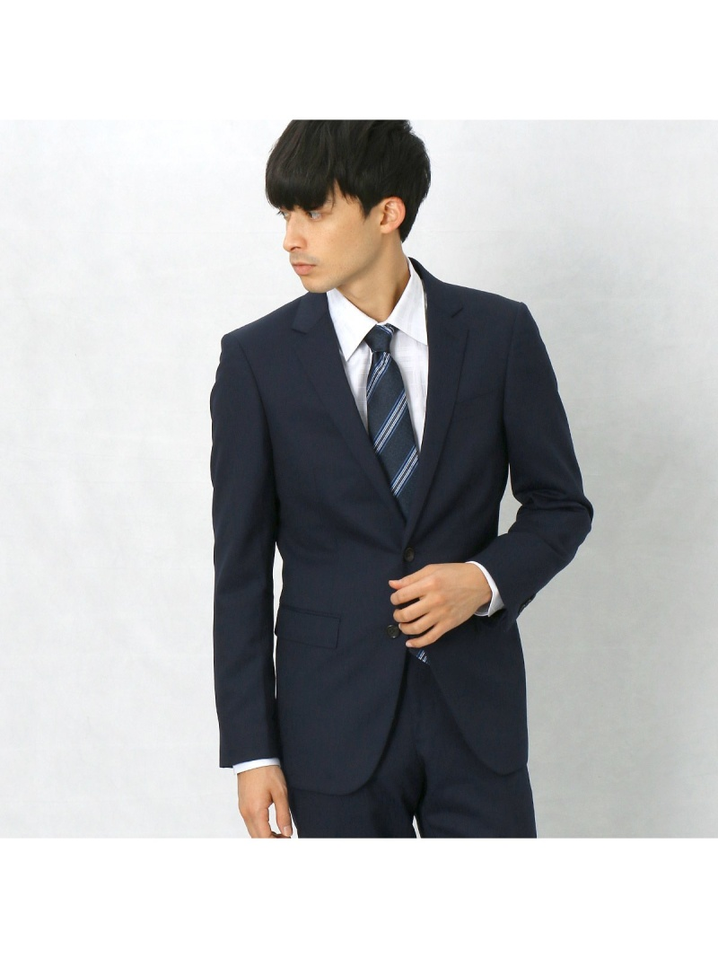 【SALE/50%OFF】COMME CA MEN シャドーストライプスーツ コムサメン ビジネス/フォーマル スーツ ネイビー ブラック【RBA_E】【送料無料】