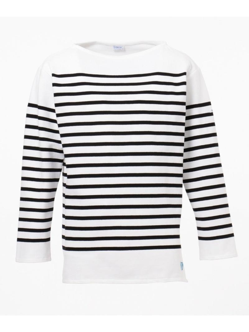 SHARE PARK ORCIVAL REGULAR STRIPE LS シェアパーク カットソー Tシャツ ブラック ホワイト【送料無料】