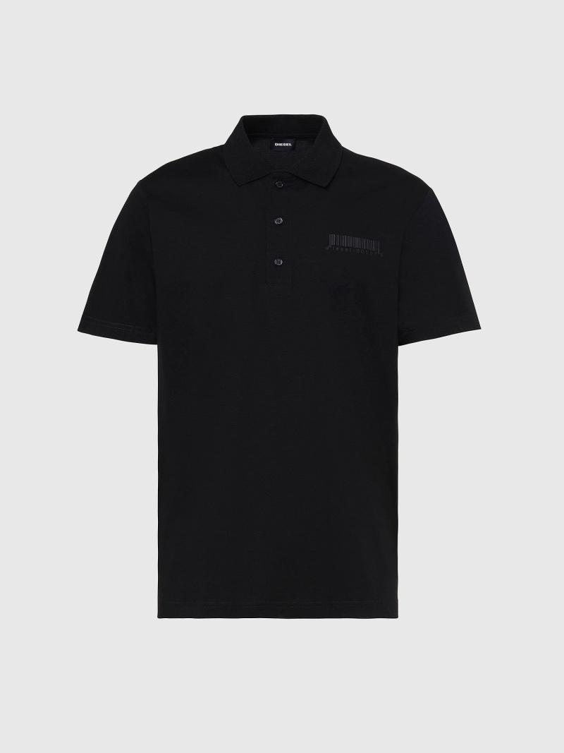 DIESEL T-WARREL ディーゼル カットソー ポロシャツ ブラック レッド【送料無料】