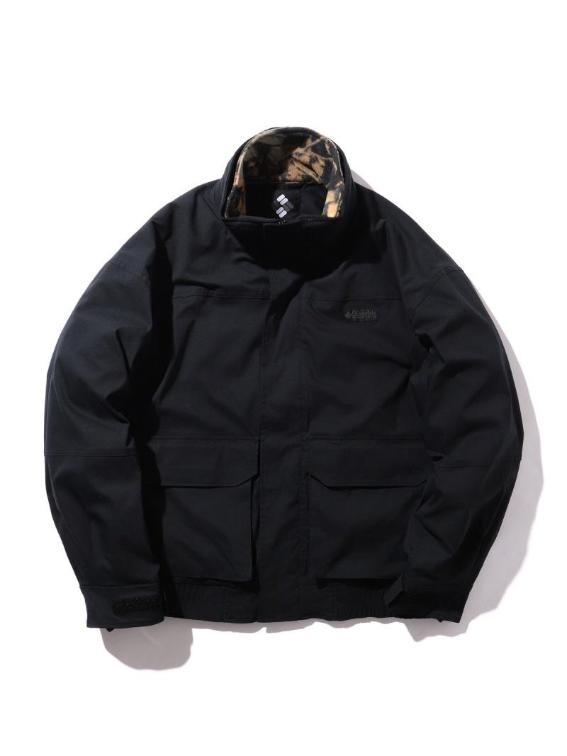 BEAMS MEN COLUMBIA × BEAMS / 別注 Bugaboo Interchange Jacket ビームス メン コート/ジャケット ブルゾン ブラック【先行予約】*【送料無料】
