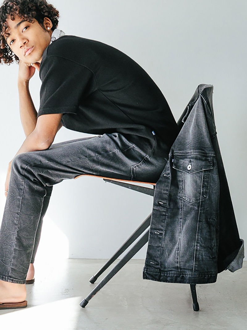 Oblekt (M)LOOSE SILHOUETTE BLACK JACKET オブレクト コート/ジャケット デニムジャケット ブラック【送料無料】