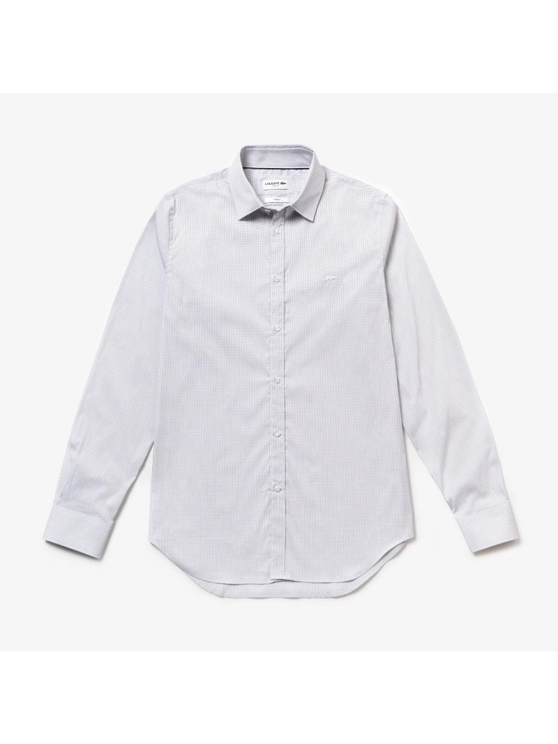 LACOSTE イタリアンコットンポプリンミニチェックシャツ ラコステ シャツ/ブラウス【送料無料】