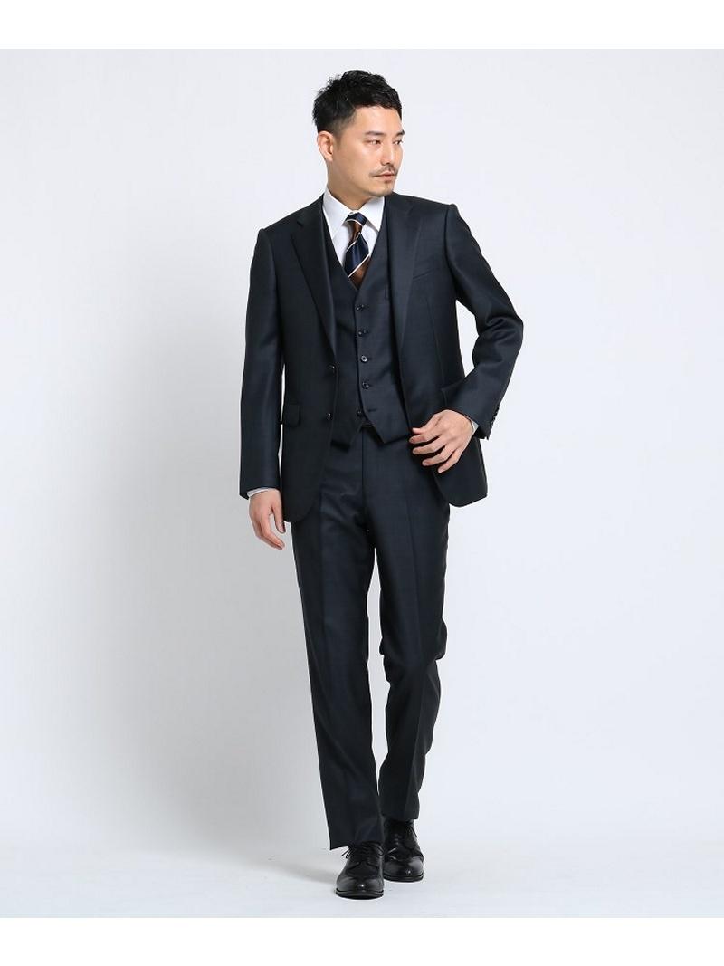 TAKEO KIKUCHI シャイニーシャークピンヘッドスーツ Fabric by MIYUKI KEORI[ メンズ スーツ 撥水 結婚式 ] タケオキクチ カットソー【送料無料】