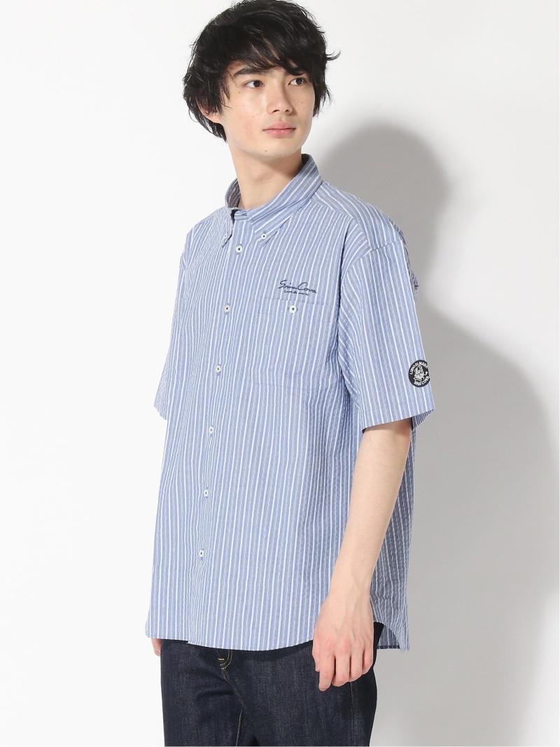 SINA COVA SINA COVA/(M)半袖ボタンダウンシャツ シナコバ シャツ/ブラウス 半袖シャツ ブルー【送料無料】