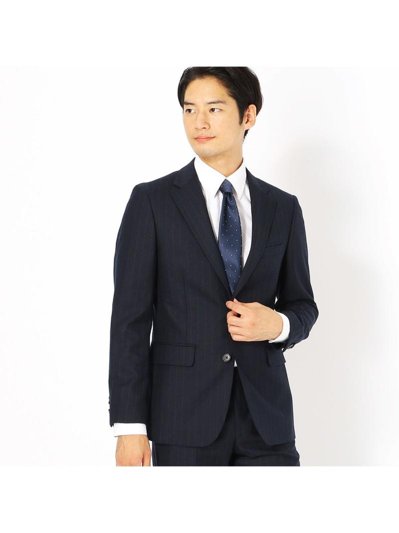 COMME CA ISM 《セットアップ》コーデュラナイロン ミルドストライプ スーツジャケット コムサイズム ビジネス/フォーマル【送料無料】