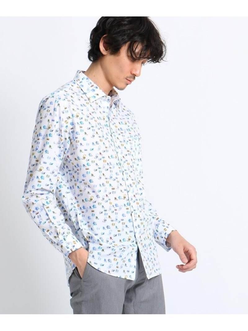【SALE/40%OFF】TAKEO KIKUCHI LEGGIUNOシャツ タケオキクチ シャツ/ブラウス シャツ/ブラウスその他 ホワイト ブルー【RBA_E】【送料無料】