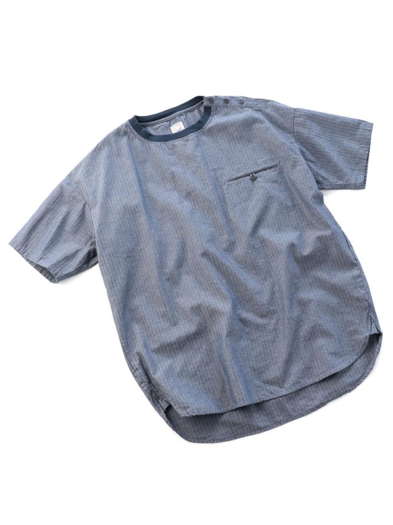 ADITIONAL ショルダーボタンTシャツ/コットン×リネン メンズ ビギ カットソー【送料無料】