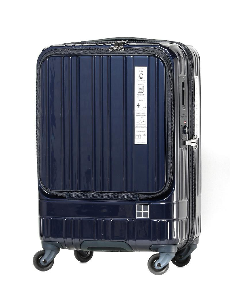 hands+ ライトスーツケース フロント;NV 35L トウキュウハンズ バッグ キャリーバッグ ネイビー【送料無料】