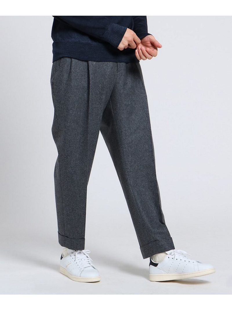 TAKEO KIKUCHI フランネルテーパードパンツ Fabric by Vitale Barberis CANONICO[ メンズ パンツ ] タケオキクチ パンツ/ジーンズ【送料無料】