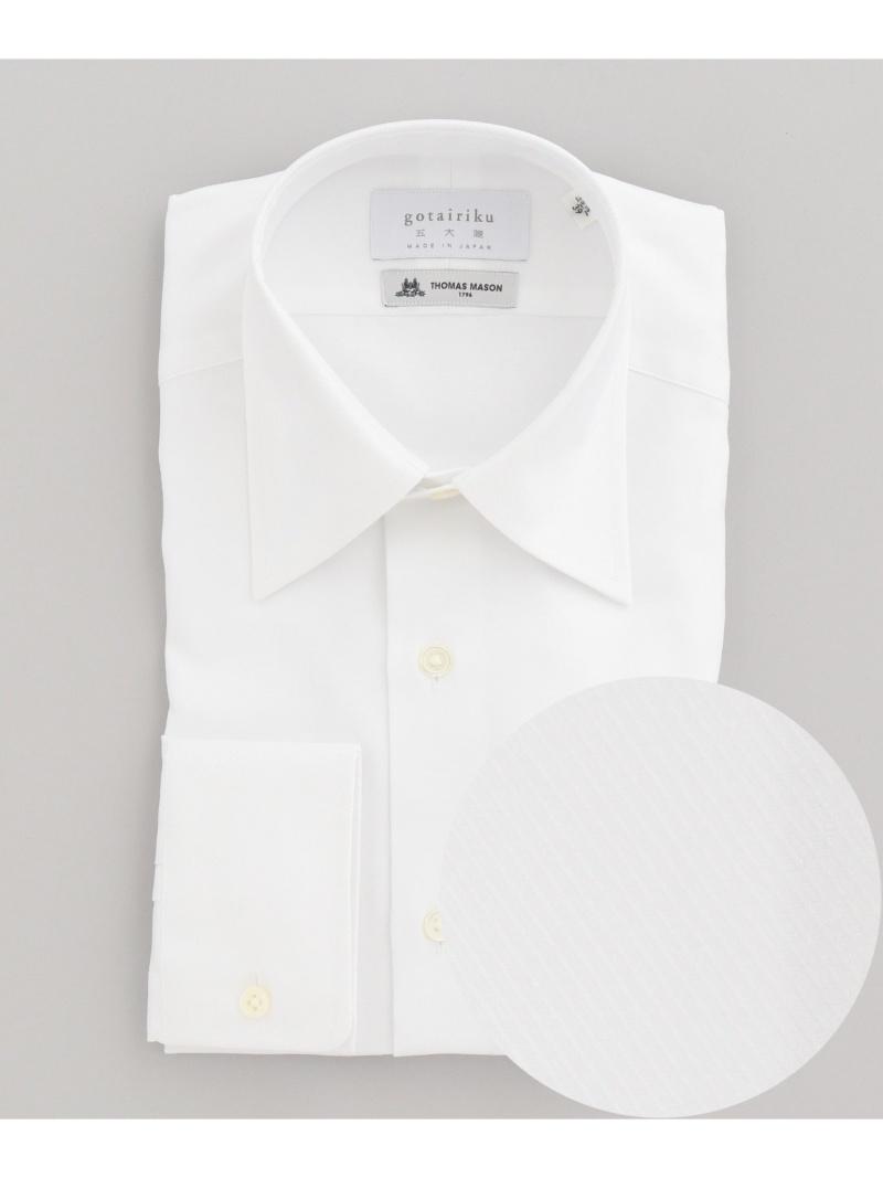 gotairiku 【THOMASMASON】【レギュラーカラー】ドレスシャツ/ツイル白無地 ゴタイリク シャツ/ブラウス ワイシャツ ホワイト【送料無料】