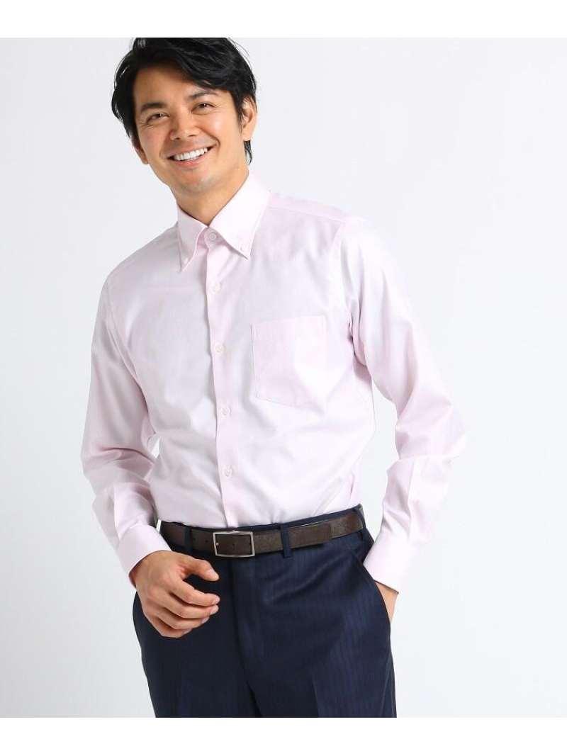 TAKEO KIKUCHI 【Sサイズ~】シャークスキンビジネスシャツ タケオキクチ シャツ/ブラウス シャツ/ブラウスその他 ピンク ブルー【送料無料】