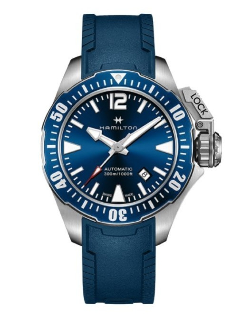 HAMILTON (M)カーキ ネイビー オープンウォーター ハミルトン ファッショングッズ 腕時計 ブルー【送料無料】