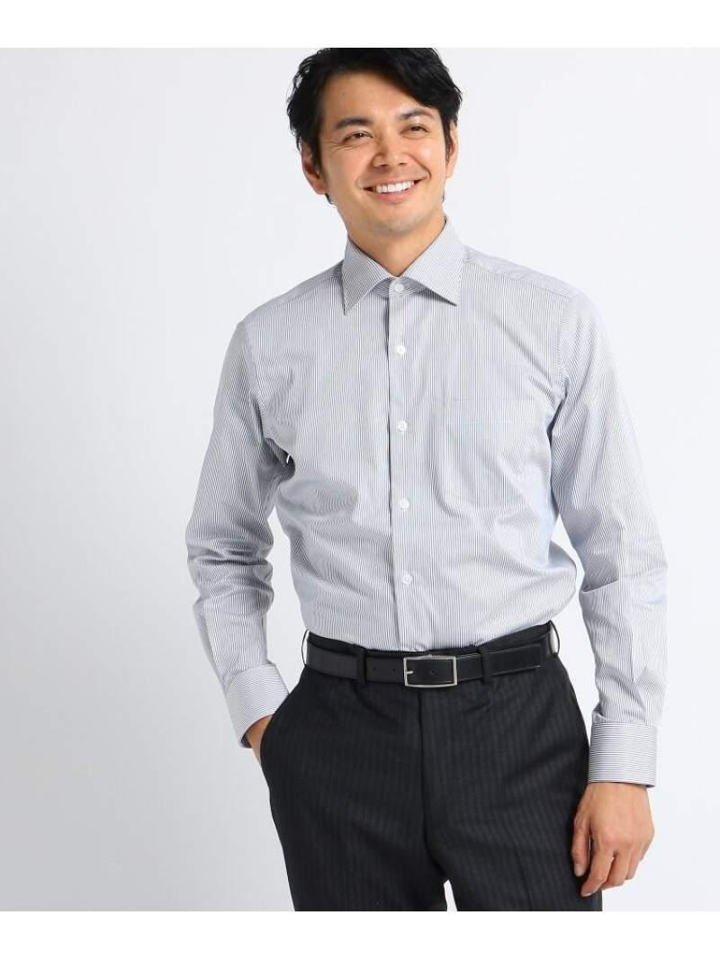 TAKEO KIKUCHI 【Sサイズ~】ツイルロンドンストライプビジネスシャツ タケオキクチ シャツ/ブラウス シャツ/ブラウスその他 グレー レッド ブルー【送料無料】