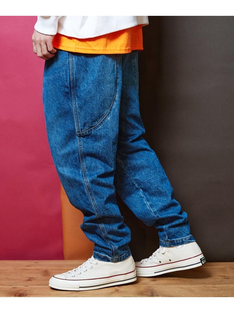 rehacer Slant Pocket Wide Tapered Denim レアセル パンツ/ジーンズ ジーンズその他 ブルー【送料無料】