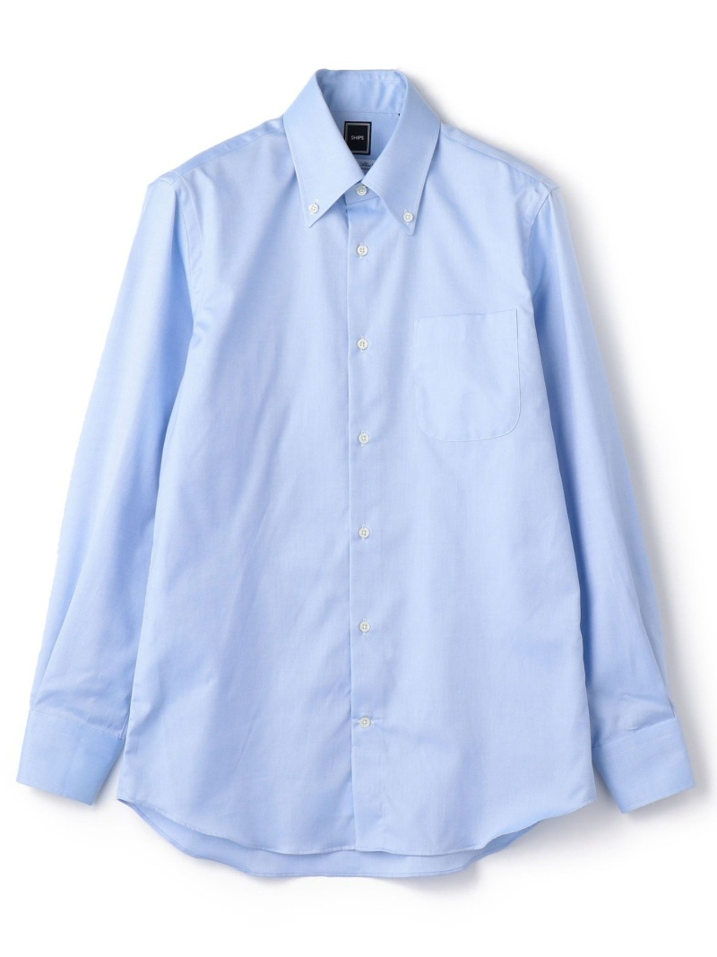 SHIPS SD:ALBINIオックスフォードロイヤルソリッドボタンダウンシャツ(ライトブルー) シップス シャツ/ブラウス 長袖シャツ ブルー【送料無料】